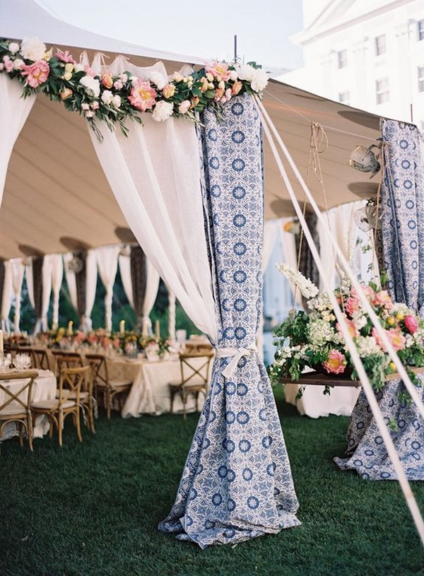 patterned tented wedding decoration ideas