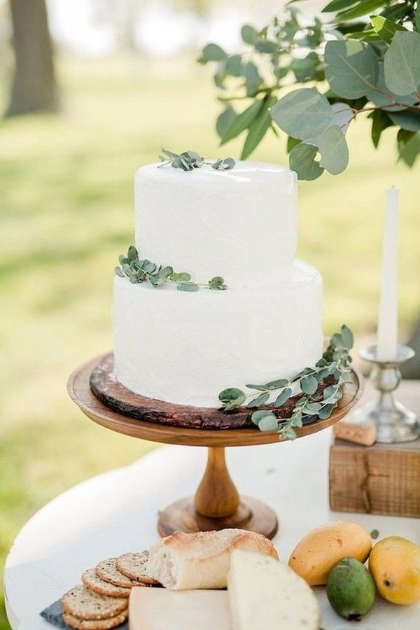 rustic and simple wedding cake ideas