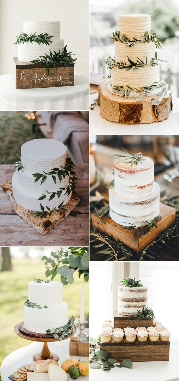 rustic and simple wedding cakes for 2019 brides