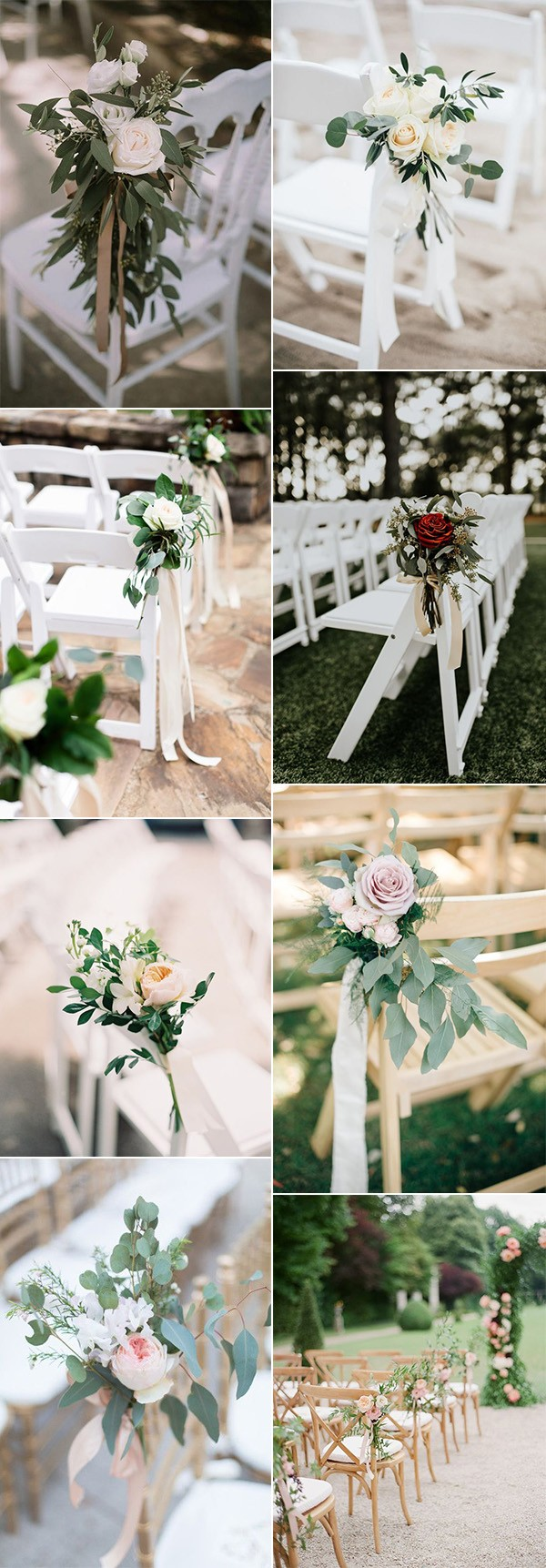 simple and elegant outdoor wedding aisle decoration ideas with floral