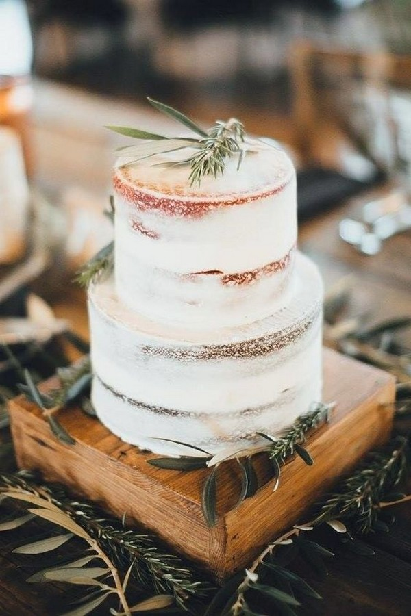 simple and rustic wedding cake ideas