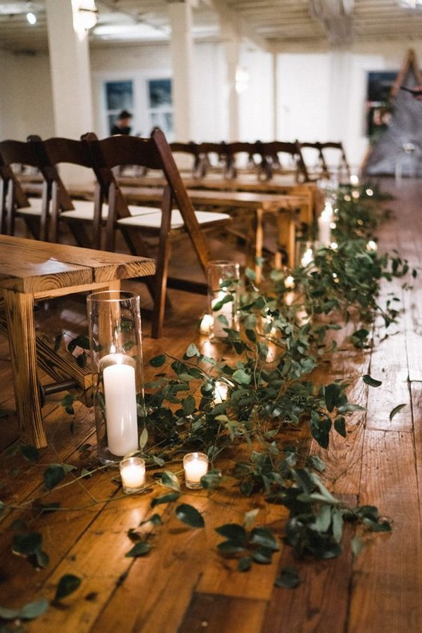 simple budget friendly wedding aisle decoration ideas