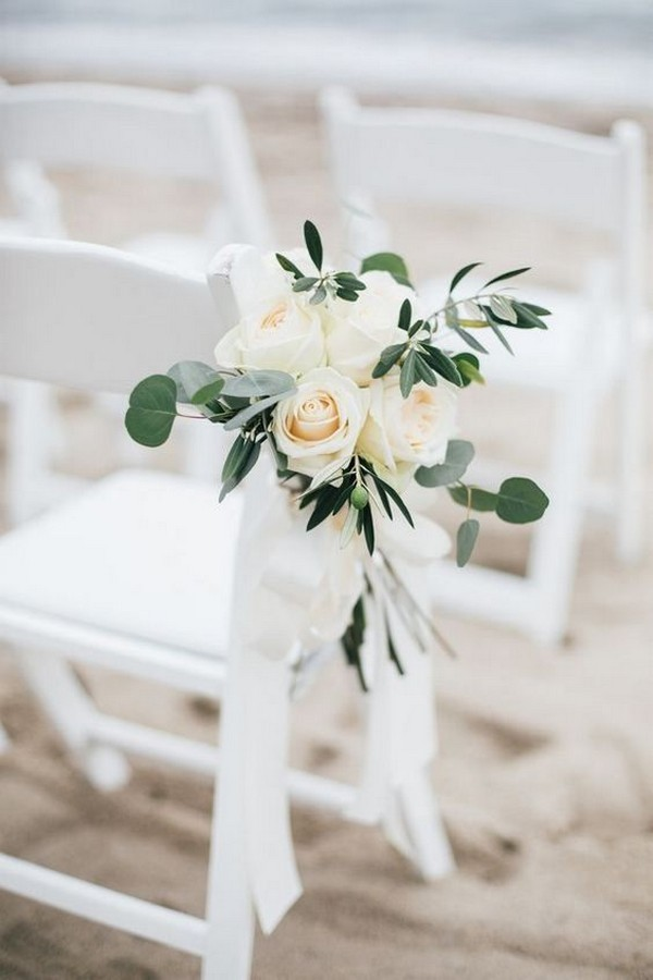 simple elegant outdoor wedding aisle decoration ideas
