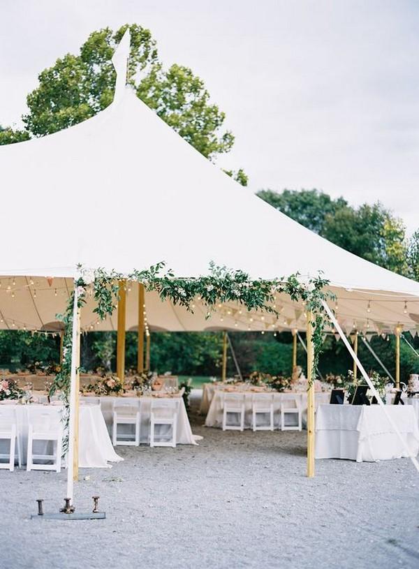 simple tented wedding entrance decoration ideas