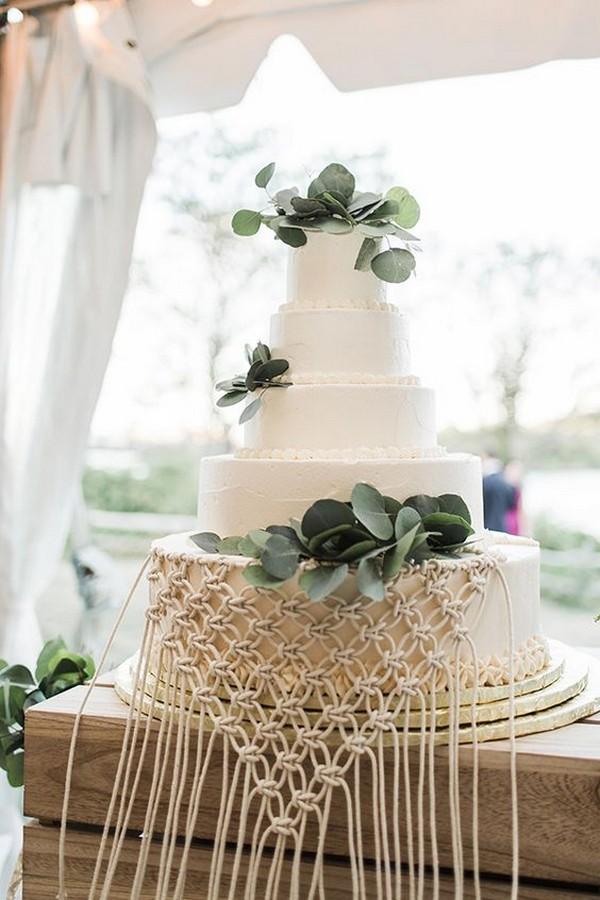 stylish macrame wedding cake ideas