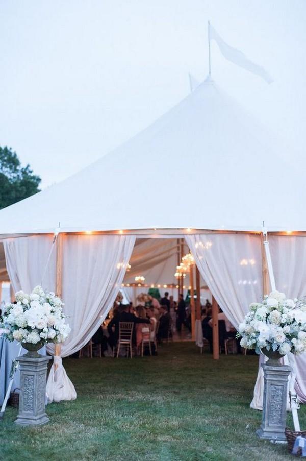 tented outdoor wedding entrance decoration ideas