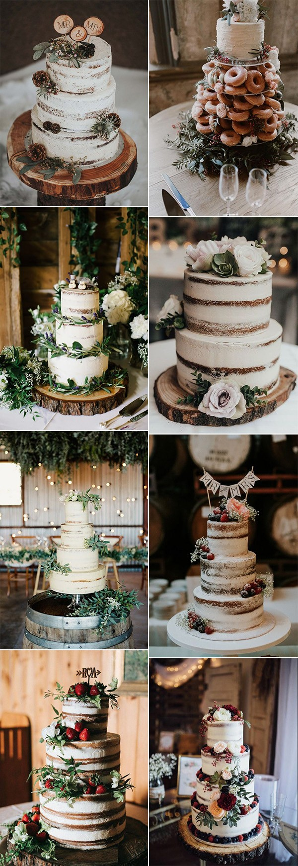 trending country rustic wedding cakes