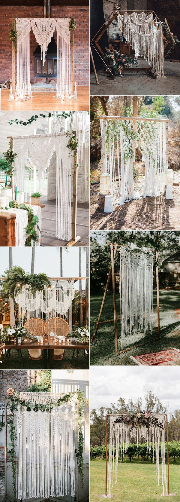 trending macrame wedding backdrops and arches