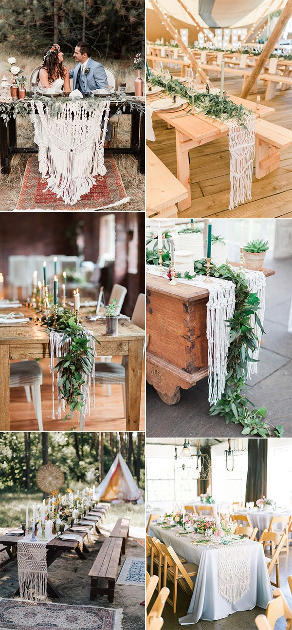 trending macrame wedding table decoration ideas