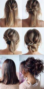 Updo Wedding Hairstyle For Medium Length Hair Emmalovesweddings
