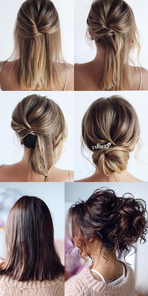 updo wedding hairstyle for medium length hair