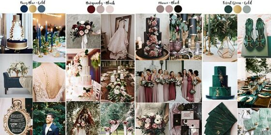 vintage wedding colors
