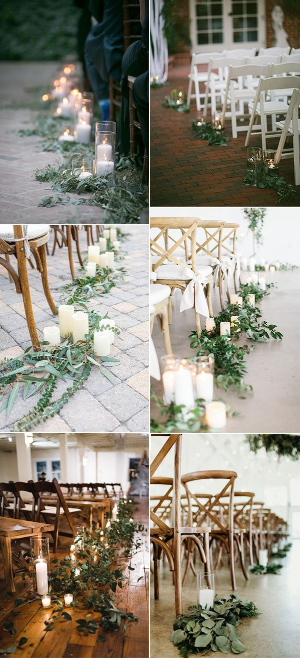wedding aisle decoration ideas with candles