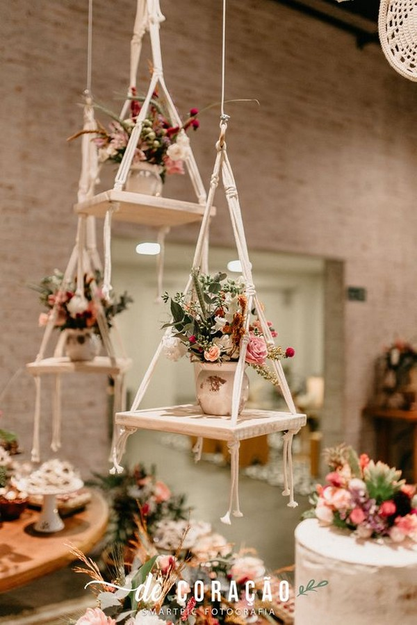 wedding decoration ideas with hanging macrame