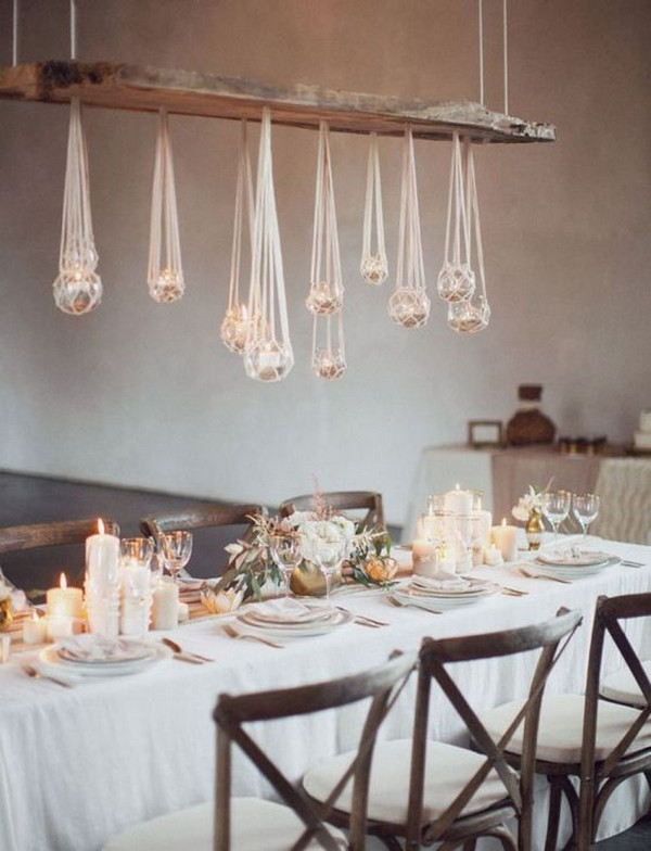 wedding hanging decoration ideas with macrame