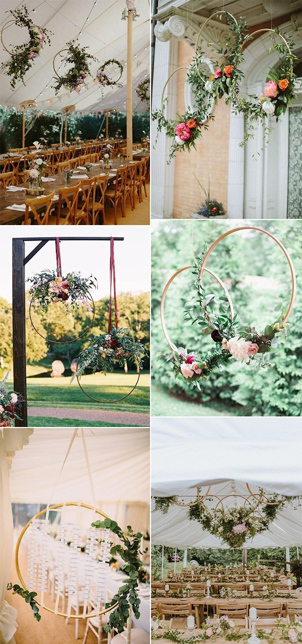 wedding hanging hoops decorations