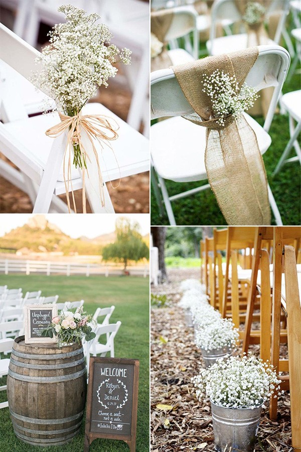 DIY outdoor wedding ceremony decoration ideas on a budget