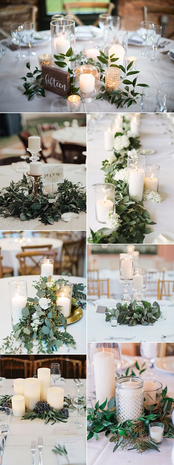 budget friendly elegant wedding centerpieces with candles