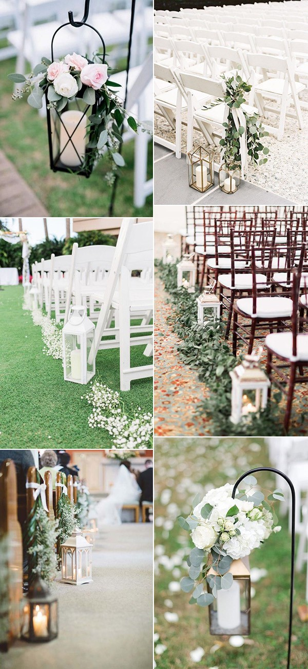 budget friendly lantern wedding aisle decoration ideas