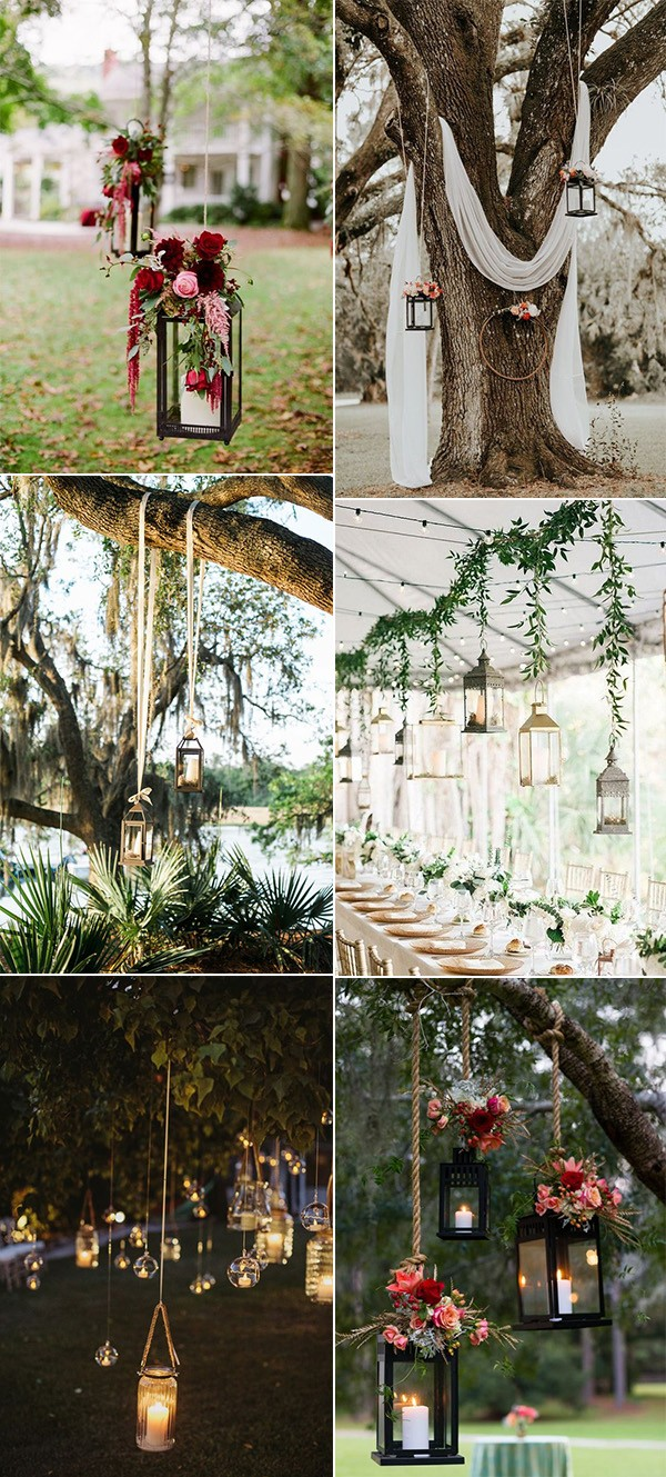 budget friendly wedding decoration ideas with hanging lanterns