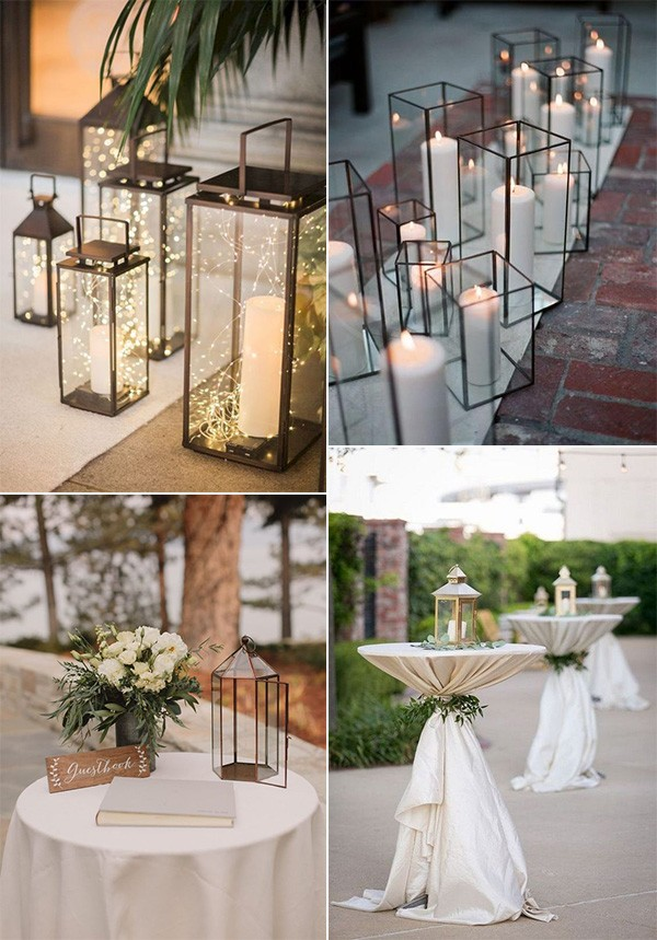 budget friendly wedding decoration ideas with lanterns