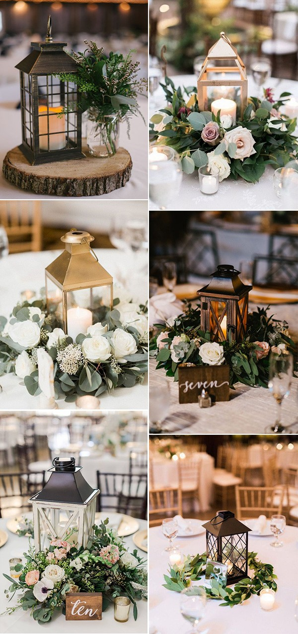 chic vintage lanterns wedding centerpeice ideas