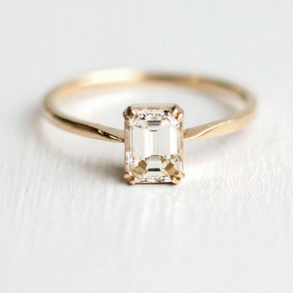 classic emerald cut wedding engagement ring