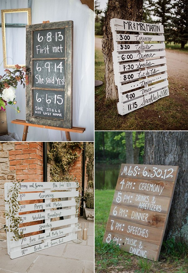 country rustic diy wedding signs on a budget
