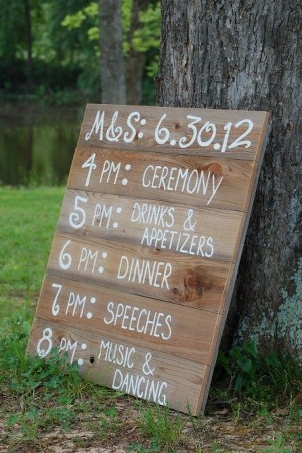country wedding sign ideas on a budget
