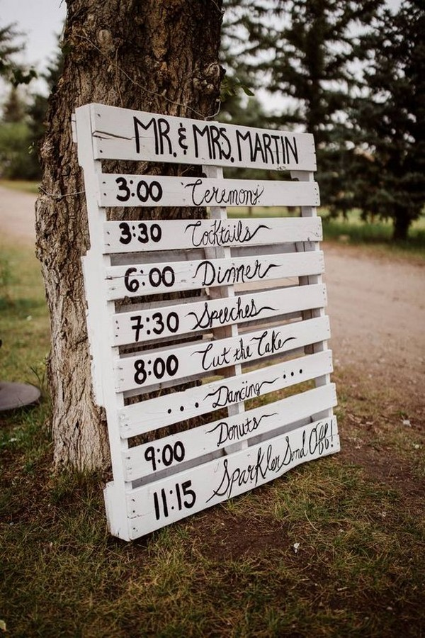 diy country rustic wedding sign