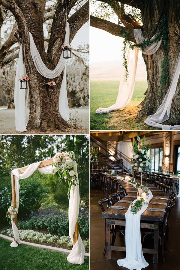 drapery wedding decoration ideas on a budget