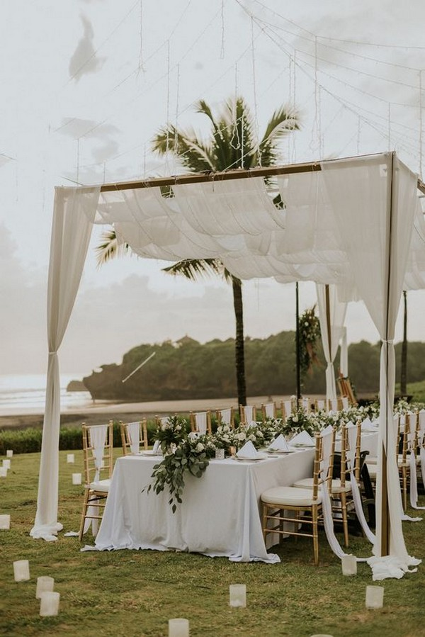 elegant beach wedding reception ideas