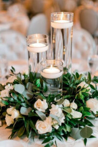 floating candles budget friendly wedding centerpiece ideas