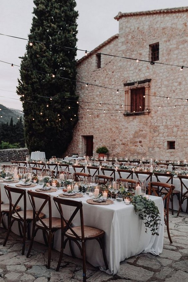 outdoor elegant and natural wedding reception ideas
