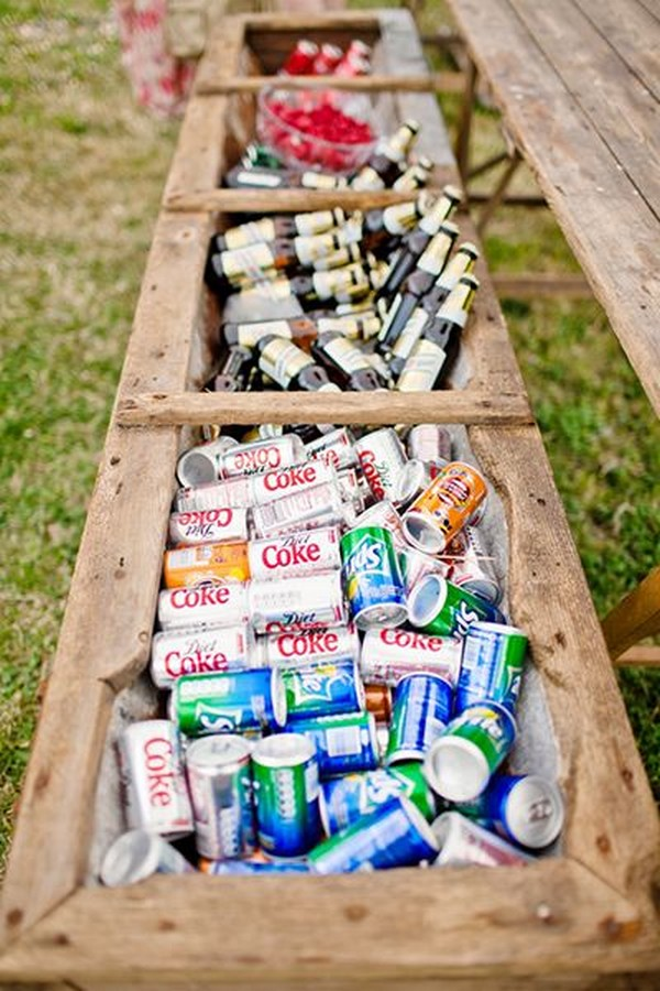 outdoor wedding drink station ideas on a budget