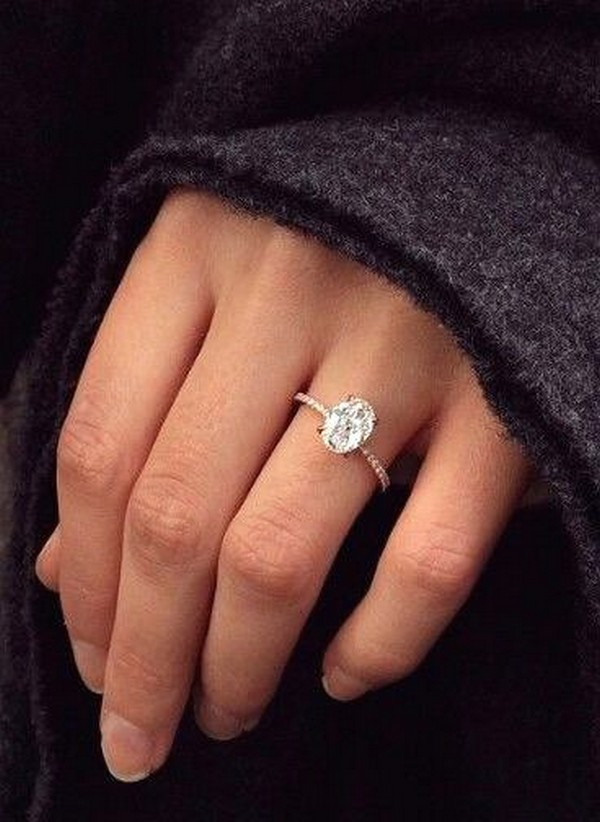 oval diamond classic engagement ring