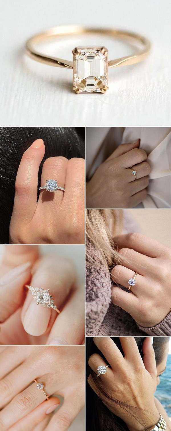 simple and classic wedding engagement rings