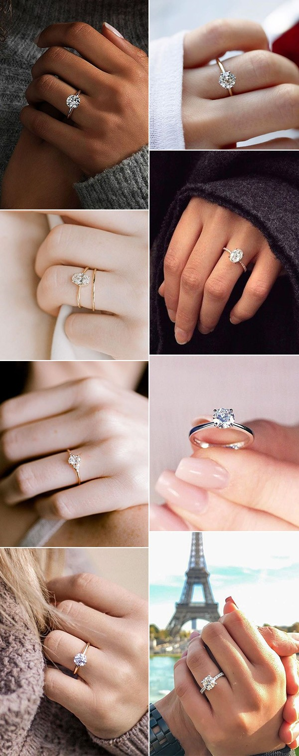 simple but classic wedding engagement rings