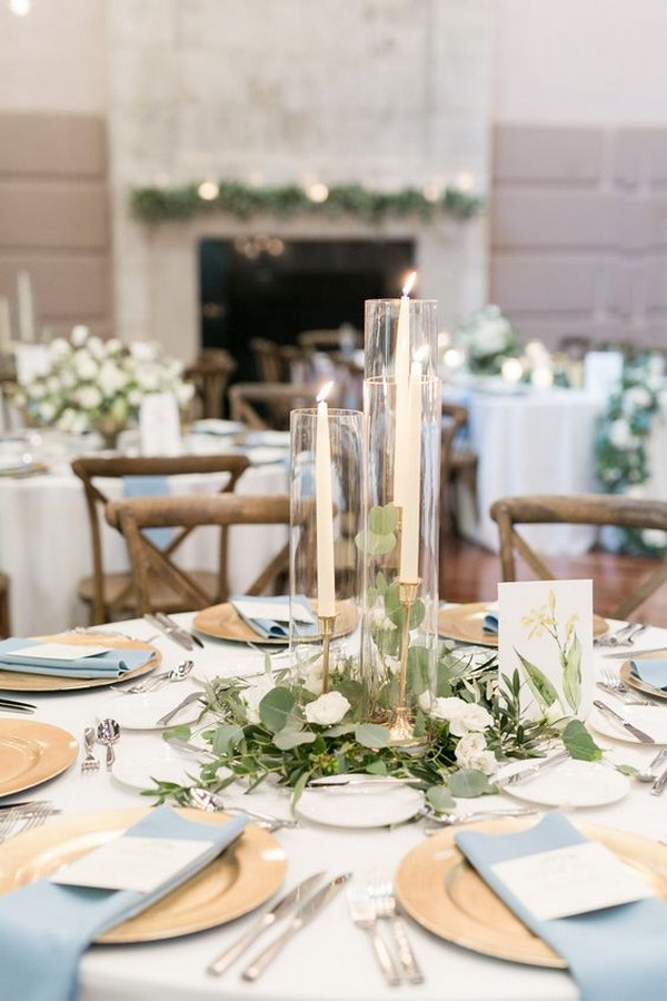 simple but elegant wedding reception ideas with candles