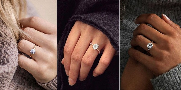 simple classic engagement rings