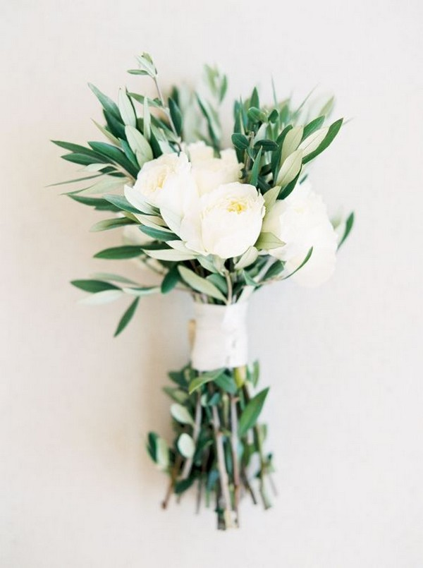 simple small greenery wedding bouquet