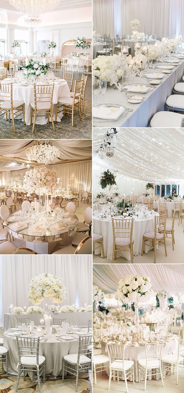 trending elegant wedding reception decoration ideas