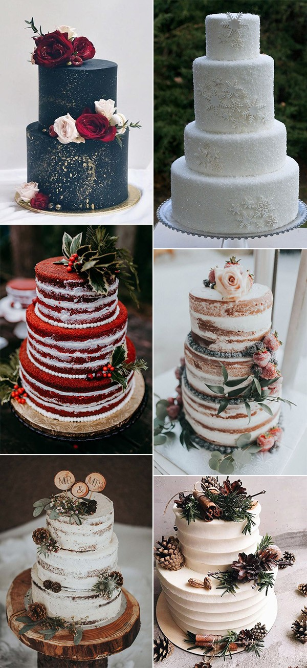 winter wedding cakes for 2019