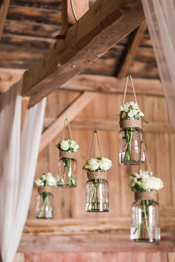 DIY mason jars wedding decoration ideas