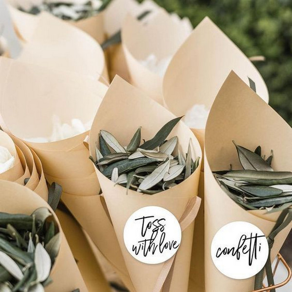 DIY wedding confetti ideas
