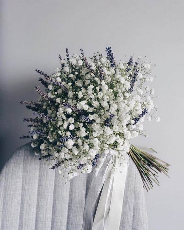 Lavender and baby's wedding bouquet