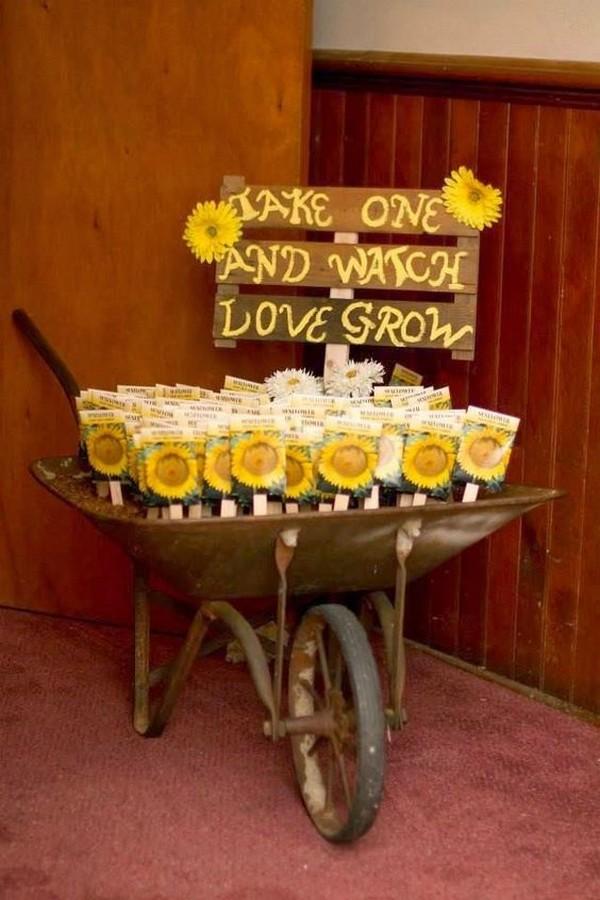 Sunflower Feeds Wedding Favors