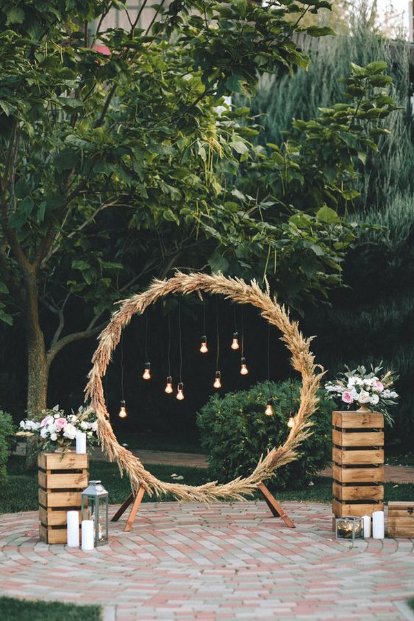 backyard DIY wedding arch ideas
