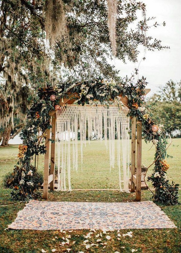 bohemian wedding arch decoration ideas