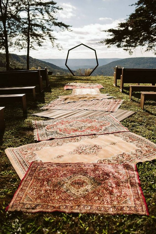 bohemian wedding ceremony decorations